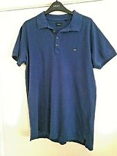 Diesel Blue Polo Tee Shirt Size Large