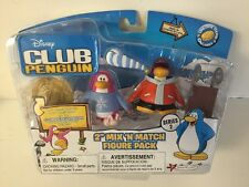 Disney Club Penguin Series 2 Snowboarder & Pajama Bunny Slippers Figure Pack NEW