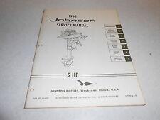 1968 5 hp Johnson Outboard Motor Repair & Service Manual Evinrude 5hp