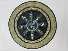 Antique Chinese Hand Embroidered Wall Hanging Panel 36cm