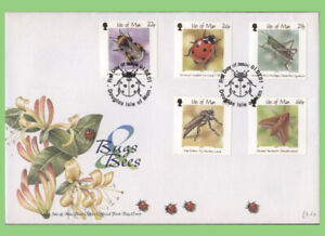 Isle of Man 2001 Bugs & Bees set  U/A IoM PO Official First Day Cover