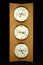 LUFFT Vintage German Wall Weather Station Hygrometer Thermometer Barometer
