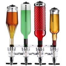 Spillatore a Parete 4 Bottiglie Dispenser Erogatore Dosatore Liquori Bevande Bar