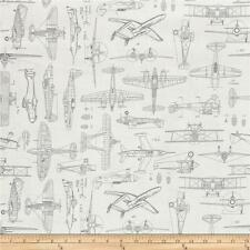 AVIATOR PLANE BLUEPRINTS Quilting Treasures 100% cotton  Fabric Remnant 29""