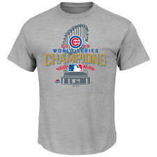 Men's Chicago Cubs Majestic Heathered Gray 2016 World Series Champion