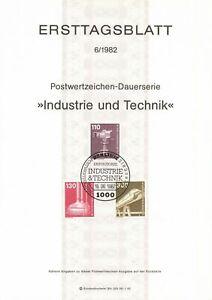 Germany ETB Ersttagsblatt 6/1982 Industry and Technology BERLIN 12
