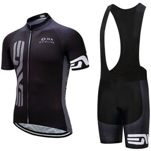Cycling Jersey Set Men Short Sleeve Racing Tops Bib Short Bicycle Sports Uniform
