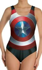 NWOT Marvel Comics Gearbunch One Piece Swimsuit size L Captain America Shield