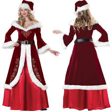 Santa Claus Mascot Costume Women Girls Christmas Fancy Dress Cosplay Adults Size