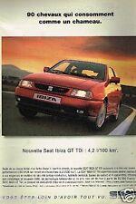 Publicité advertising 1997 Nouvelle Seat Ibiza GT TDi