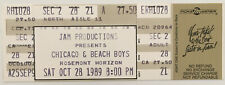 Chicago & Beach Boys Concert Ticket Stub (October 28, 1989, Rosemont Horizon)