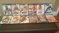 Lot of 12 PS2 PS 2  TONY HAWK,MOTO,NCAA ,GUITAR HERO,TIGERWOODS, NBA, NHL SPORTS