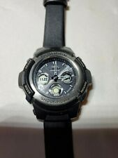 Casio AWG-100 Tough Solar Multi-Band 5 With Faux Leather Band