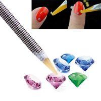Pencil Nail Art Wax Pen Picker Tool Resin Rhinestones Gem Crystal Pick Up 2X