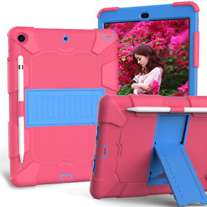 """For iPad 7th Generation 10.2"""" 2019 Case Shockproof Rubber Armor Hard Stand Cover"""