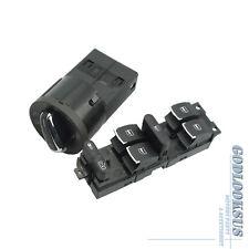 For VW Jetta Golf MK4 Bora Beetle 2Pcs OE Chrome Headlamp Master Window Switch