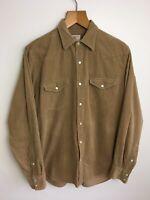 "J. Crew 100% cotton corduroy shirt size Medium  pit to pit 21"""