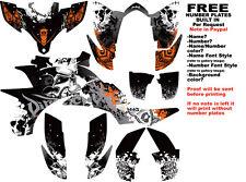 DFR FOLD GRAPHIC KIT BLACK/ORANGE FULL WRAP YAMAHA YFZ 450 YFZ450
