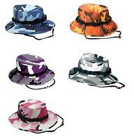 Tactical Boonie Hat Military Camo Bucket Wide Brim Sun Fishing Bush ... 2c0c3aa42e4c