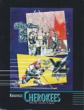 1995-96 Knoxville Cherokees ECHL Hockey Program - #FWIL