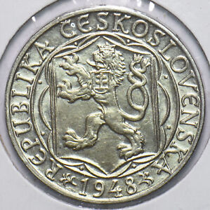 Czechoslovakia 1948 100 Korun Lion animal Bear 192558 combine shipping