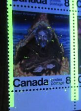 Canada 1976 695,696 8c LR Insc Block - tagging spots (sparks from Sam McGee fire