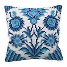 Collection D'Art Zelliges Chunky Cross Stitch Cushion Front Kit 40x40cm