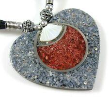 Mother-Of-Peral necklace ; Ga066 Coral, Sea Stones &