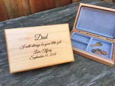 Personalized Father of the Bride Gift for Dad Always Your Little Girl Valet Box