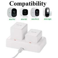 Arlo Charging Station, Dual Battery Charger for Arlo Pro, Arlo Pro 2, Arlo Go