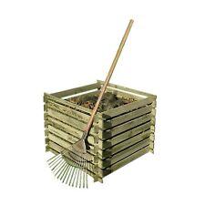 Garten Komposter 90x90x70 cm Holz mit Stecksystem kompostsilo Gartenpirat GP1960
