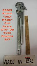 "35205 Ridgid ""USA MADE"" Old Style 7/16"" OD Tube Bender 397"