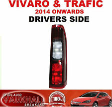DRIVERS SIDE VAUXHALL VIVARO VAN RENAULT TRAFIC REAR BACK LIGHT LENS OFF SIDE