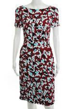 Mary Katrantzou Multi Color Abstract Short Sleeve Dress Size 4 New $2180 120125