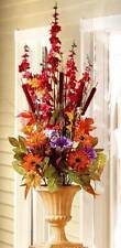 New Colorful Autumn Fall Floral Topiary with Urn Vase  44 1/2""