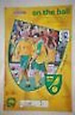 Norwich v Gillingham Programme 24th Aug 2002