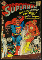 Superman #199 VG/FN 5.0 Race with Flash 1967 Silver Age Key Issue!