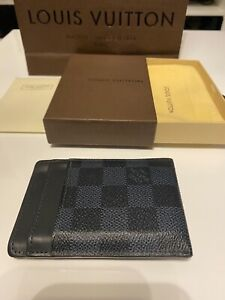 LOUIS VUITTON PINCE CARD HOLDER WITH BILL CLIP N60246