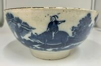 Blue and White Transfer Pottery Bowl circa 1795