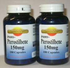 Pterostilbene 150mg 360 Capsules Antioxidant Cell Function  Trans Pterostilbene