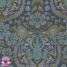 Tula Pink Eden Crouching Tiger Sapphire PWTP077 Cotton Fabric Yard Free Spirit