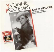 Yvonne Printemps: Arias and Songs Yvonne Printemps Audio CD