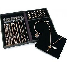 "Black Jewelry Designs Premier Display Case Travel Storage 12 1/8"" x 8 1/2"""