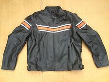 "RK Sports Mens Leather Motorbike / Motorcycle Jacket Size UK 46"" 48""Chest (J18)"