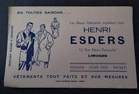 Buvard HENRI ESDERS vétements rue Adrien-Dubouché Limoges Blotter Löscher