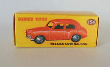 Repro Box Dinky Nr.154 Hillman Minx Saloon rot oder grün