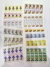 Lot 12 Planches Timbres Maroc. AD2805