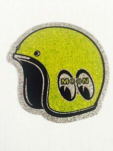 "Mooneyes helmet metal flake sticker 2 x 2 "" hot rod gasser rockabilly"
