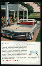 1960 White PONTIAC BONNEVILLE Vista Car - Golfer -   VINTAGE AD