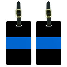 Thin Blue Line Police Luggage Suitcase Carry-On ID Tags Set of 2